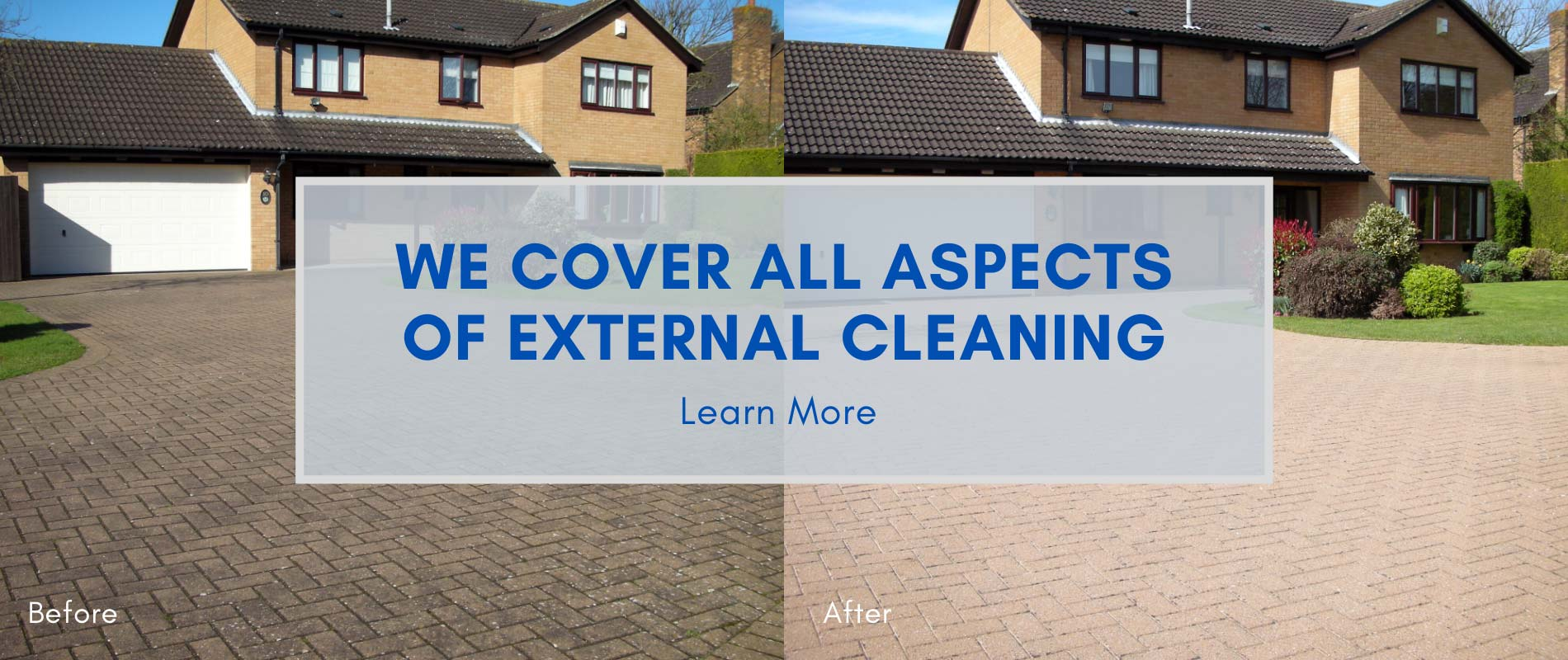 We cover all aspects of external cleaning